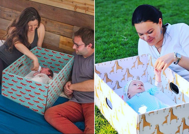 A famosa caixa de papelão para bebês da Finlândia